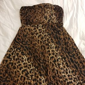 Strapless animal print dress The Limited XL
